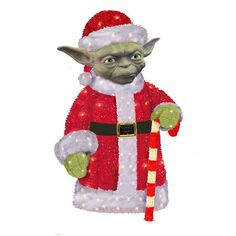 Kurt Adler Star Wars Santa Yoda Pre-Lit Christmas Decor - Indoor and Outdoor Star Wars Christmas Decorations, Decorating With Christmas Lights, Christmas Ornaments, Holiday Decor, Lawn Decorations, Holiday Ideas, Zombie Christmas, Christmas Gift Guide, Xmas