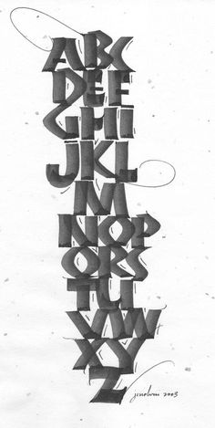 A Balancing Act: Neuland & Script (Judy Melvin: day) — Calligraphy Northwest International Calligraphy Conference Calligraphy Words, Calligraphy Alphabet, Typography Letters, Graphic Design Typography, Font Alphabet, Creative Lettering, Cool Lettering, Types Of Lettering, Lettering Design