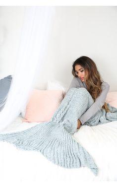 Mermaid blanket in blue marle | SHOWPO Fashion Online Shopping