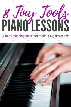 8 Tiny piano teaching tools that make a big difference! #PianoTeaching #PianoLessons #PianoTeachingTools #TeachPianoToday