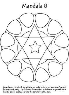 Mandala 8 coloring page