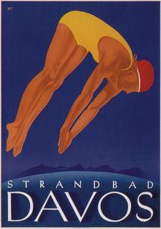 W. Trapp / Strandbad Davos / 1933