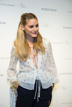 Olivia Palermo at the Nordstrom Michigan Avenue on September 8, 2016 in Chicago, Illinois.