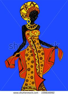 """Find """"african dress"""" stock images in HD and millions of other royalty-free stock photos, illustrations and vectors in the Shutterstock collection. African Girl, African American Art, African Beauty, African Women, Arte Tribal, Tribal Art, Afrique Art, African Colors, African Art Paintings"""