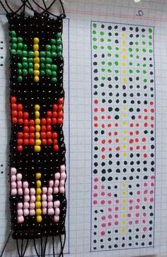 Simple Bracelets, Beaded Bracelets, Pixel Crochet, Tear, Loom Beading, Canvas Art, Projects To Try, Jewelry, Patterns