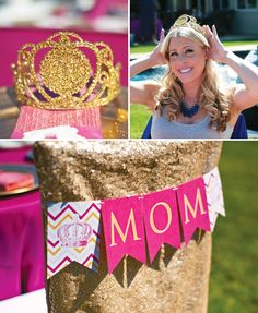 {Pink, Glitter & Gold} Royal Baby Shower: Recap Part 1 – Theme & Decorations // Hostess with the Mostess®