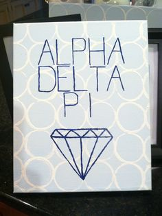 ADPi canvas I painted <>