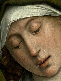 Rogier van der Weyden - Descent from the Cross -Deposition- 1435 (detail)