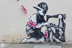 New Banksy street art piece in North London.  #artsy