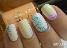 Stamping Saturday: Maybelline Bleached Neons Waves - Fierce Makeup & Nails