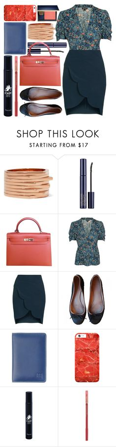 """clerk"" by foundlostme ❤ liked on Polyvore featuring Repossi, Estée Lauder, Hermès, Topshop, DUDU, Diptyque, Lancôme, office, topshop and pencilskirt"