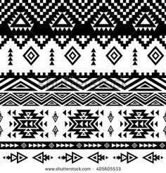 Seamless ethnic pattern background with geometric aztec, maya, peru, mexican, tribal, american, indian elements.