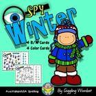 Winter I Spy Cards by Giggling Wombat | Teachers Pay Teachers