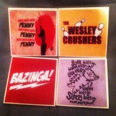 The Big Bang Theory Coaster Set. $10.00, via Etsy.