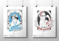 #POSTER #DISSENY #CROWDFUNDING - Packs amb samarreta, poster i adhesiu amb il·lustracions de personatges il·lustres dels Països Catalans amb aires renovats. Ovidi Montllor Neus Català cartell +INFO http://www.calamartdesigns.com Crowdfunding verkami http://www.verkami.com/projects/9502-illustres-illustrats