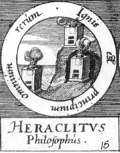ALQUIMIA VERDADERA: Emblema 15. Heráclito, filósofoEl fuego es el inicio de todo.