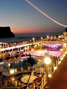 passing thru the Amalfi Coast, aboard the MSC ORCHESTRA, 6/08