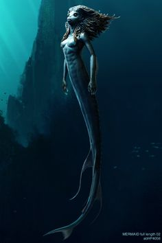 Mermaid Maquette (Harry Potter and the Goblet of Fire) concept art by Adam Brockbank