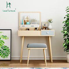 Nordic Furniture, Built In Furniture, Home Decor Furniture, Furniture Design, Home Office Decor, Home Decor Bedroom, Modern Bedroom, Dresser Table, Table Decor Living Room