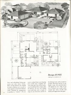 Mid Century Modern Home Plans vintage house plans, 1960s homes, mid century homes | for mid