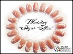 Wedding Sugar Effect Nails
