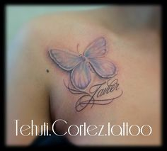 #butterflytattoo #lettering #caligraphytattoo #Colourbutterflies #tattoos #tat #tehuticorteztattoo #inkmortaltattoostudio