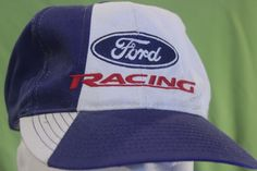Ford Racing Hat Snapback Cap Adjustable Blue Red White One Size Nascar…