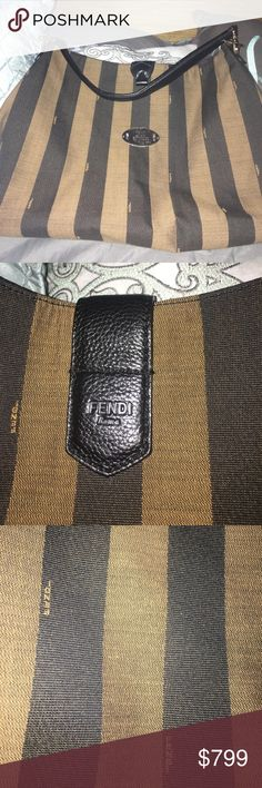 Fendi Pequin Hobo Bag 💯❗️authentic. In excellent condition. Please ask if u need extra pics. Trade value 1400. Fendi Bags Hobos