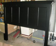 90 Year Old 5 Panel Door Made Into King Size Headboard