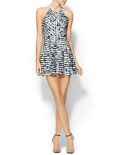Parker Orion Combo Dress - flattering cut around the waist, hips, and shoulders. Pairs nicely with a jacket.