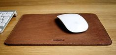 Handwers Stitched Leather Mousepad — Daily Tech Find