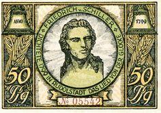Noodgeld na de Eerste Wereldoorlog met beeltenis van Schiller