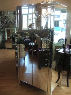 mirrored chestglass venetian home furnituremirrored bedroom
