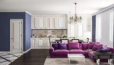 Кухня. Дизайн интерьера квартиры в стиле минимализм, Московском пр., 88 кв.м.