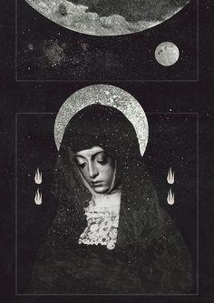 Moon  @beppeconti illustration