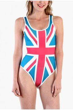 LoveMelrose.com From Harry & Molly | British English Flag Bodysuit