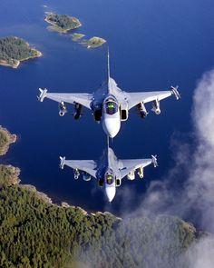 Royal Swedish Air Force Saab Gripen C. Military Jets, Military Weapons, Military Aircraft, Air Fighter, Fighter Jets, Saab Jas 39 Gripen, Swedish Air Force, South African Air Force, Aircraft Design