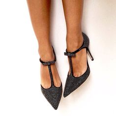 Black and Silver Glitter Stiletto Heels T Strap Pumps Chic Fashion Shoes For Prom Classy Sequined Pointy Toe Prom Shoes For Party Queen Your Must-have Fashion Shoes 2019 Zapatos Shoes, Shoes Heels, Prom Shoes, Louboutin Shoes, Stiletto Heels, High Heels, Black Heels, Pointed Heels, Style Work