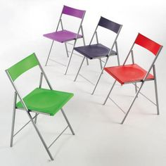 Pezzani Contemporary Pack of 6 First Folding Dining Chairs in Various Colours