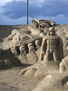 JPB: Sand Sculpture collection7 | Space sand castle | Flickr - Photo Sharing!
