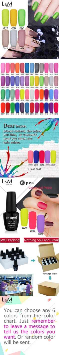 Wholesale 6 Pcs Velvet Matte Gel ibdgel Brand (1Base Coat+5 Colors )UV Nails Polish Set Nails Gel Professional Lacquer 48 colors