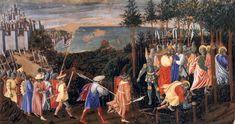 Giovanni Boccati di Piermatteo. The Arrest of Christ (c. 1447). Tempera on wood, 40 x 66 cm. Galleria Nazionale dell'Umbria, Perugia