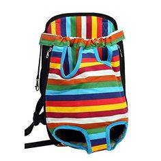 LuWees Large Size Pet Front Carrier Legs Out Front pet Travel Carrier Bag Backpack Colorful Strips >>> You can find out more details at the link of the image.(This is an Amazon affiliate link and I receive a commission for the sales)