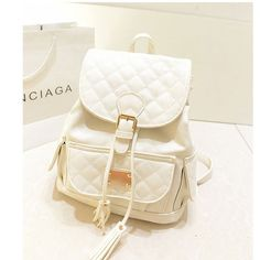 Fresh College Style Cream Tassel Backpack|Fashion Backpacks - Fashion Bags- ByGoods.com
