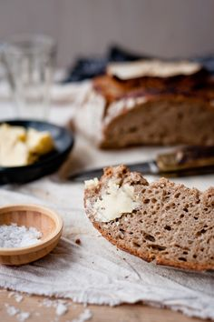 Sourdough bread with butter