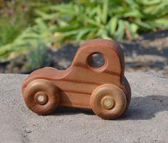 Hot Rod Redwood Toy Wood Car by WoodenGiraffeToys on Etsy, $5.50