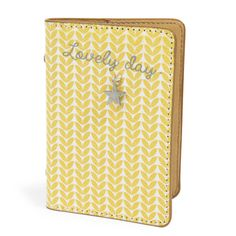 Portabiglietti giallo in cotone 8 x 11 cm VINTAGE CORNER Passion Deco, Style Vintage, Print Patterns, Modern Design, Prints, Products, Yellow, Objects, Homes