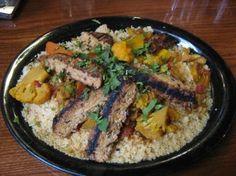 Seva in Ann Arbor, Michigan (North African Cous Cous); best vegetarian food around.