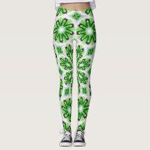 Elegant Leggings with White Green design Sweatpants, Leggings, Abstract, Elegant, Green, How To Make, Shopping, Design, Fashion