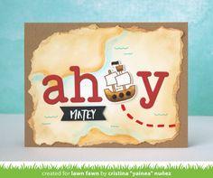 Lawn Fawn Video {6.8.17} An Ahoy Matey Card by Yainea!
